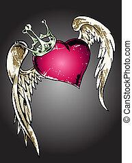 coeur, tribal, illustration