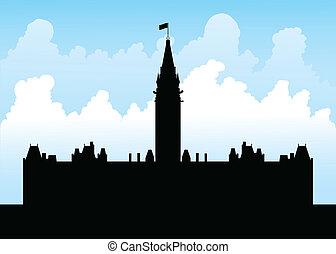 colline, parlement, ottawa