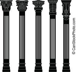 colonne, antiquité, pilier, ancien, vieux