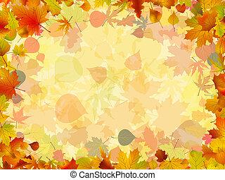 coloré, cadre, formé, leaves., eps, automne, 8