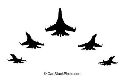 combattants, jet
