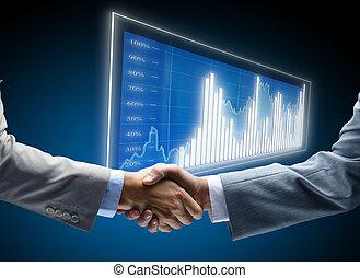 communication, diagramme, business, fond, concepts, emploi, amis, amical, constitué, accord, amitié, homme affaires, chance, affaire, noir, commerce, commencements, exposer, sombre, finance