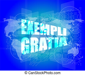 concept, business, écran, carte, numérique, toucher, mondiale