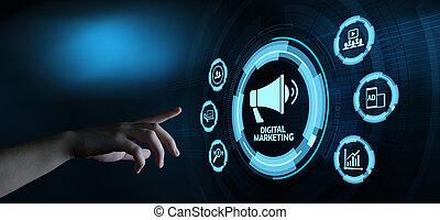 concept, commercialisation, stratégie, contenu, planification, publicité, numérique