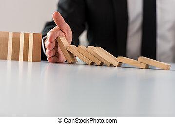 concept, crise, business, solution