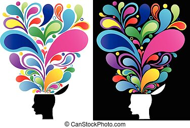 concept, esprit, créatif