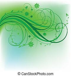 conception, naturel, vert