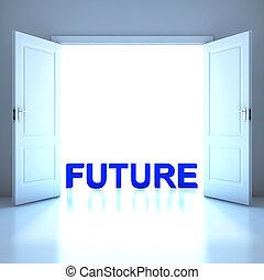 conceptuel, avenir, mot