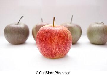 conceptuel, pommes, image.