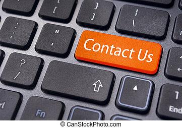 conctact., entrer, ligne, nous, contact, clã©, message