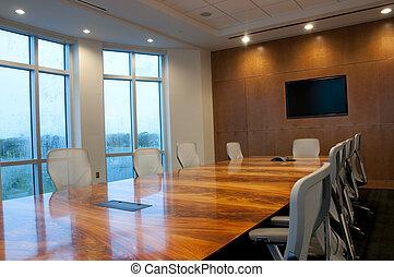 conférence, bâtiment, salle, bureau, nouveau
