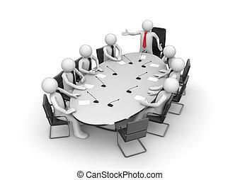 conférence, constitué, salle réunion