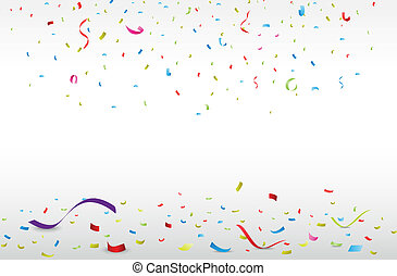 confetti, coloré, célébration