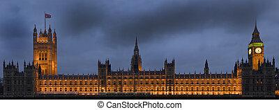 connu, aussi, westminster, maisons, palais, siècle, barry, charles, augustus, westminster, localisé, 19ème, th, néogothique, pugin, reconstruit, rivière, parlement, style., banque