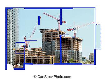 constructioin, floorplan
