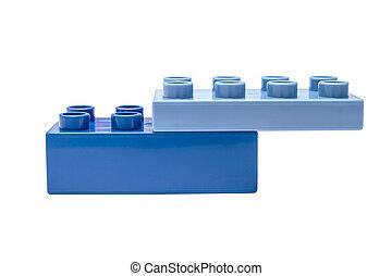 construction bleu, bloc