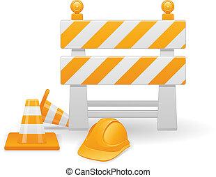 construction, image, vecteur, sous