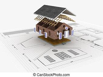 construction, maison