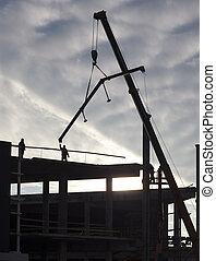 construction, nouveau, bâtiment