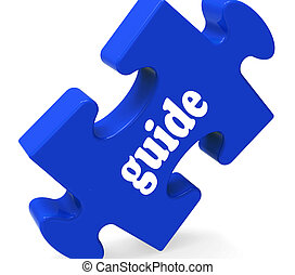 consultant, projection, puzzle, guideline, guidage, guide, instructions