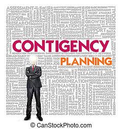 continuité, concept, mot, nuage, business