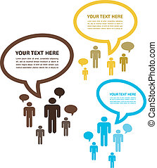 conversation;, newtork, groupe, arbre, gens