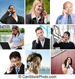 conversation, téléphone, professionnels