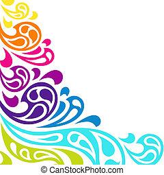 couleur, arrière-plan., résumé, éclaboussure, vagues
