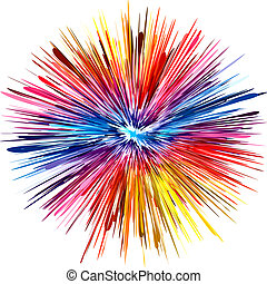 couleur, explosion
