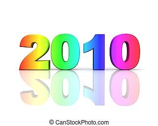 couleurs arc-en-ciel, 2010, année