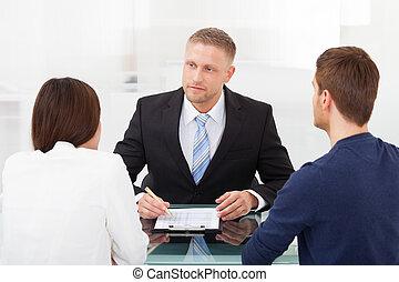couple, financier, consultant, conseiller