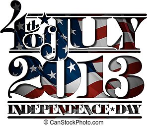 coupure, indépendance, juillet, forth, jour, 2013