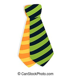 cravate, mâle, mode, isolé, icône