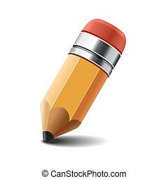 crayon, blanc, vector., arrière-plan.