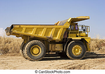 creuser camion, jaune
