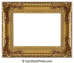 décoratif, or cadre image, modèle