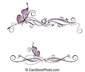 décoratif, vecteur, ornement