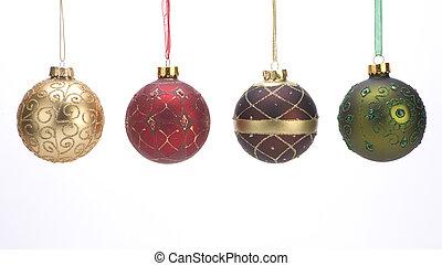 décoration, balles, noël
