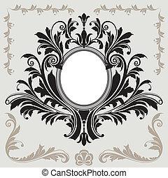 décoration florale, cadre