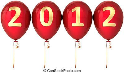 décoration, nouvel an, ballons, 2012