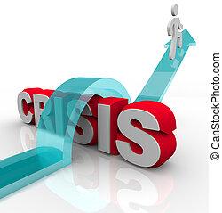 désastre, urgence, -, surmonter, plan, crise