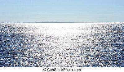 day., ensoleillé, mer