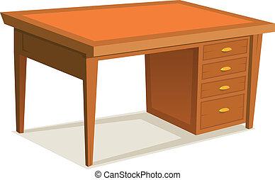 dessin animé, bureau bureau