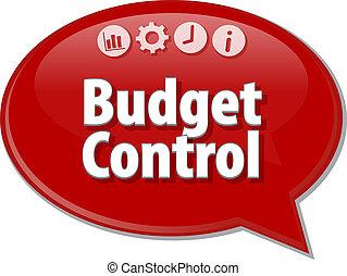 diagramme, contrôle, illustration affaires, budget, vide
