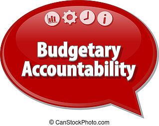 diagramme, illustration affaires, accountability, budgétaire, vide