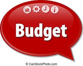 diagramme, illustration affaires, budget, vide
