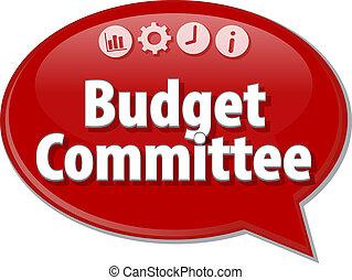 diagramme, illustration affaires, comité, budget, vide