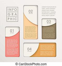 diagramme, résumé, papier, moderne, infographic, barre