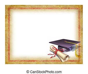 diplôme, remise de diplomes, vide