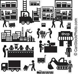 distributeur, fabricant, icône